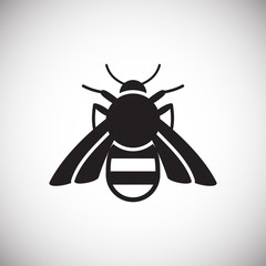 Bee Insect icon on white background for graphic and web design, Modern simple vector sign. Internet concept. Trendy symbol for website design web button or mobile app