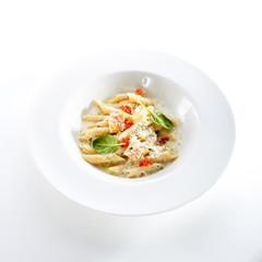 Fish Penne Pasta Al Dente with Salmon
