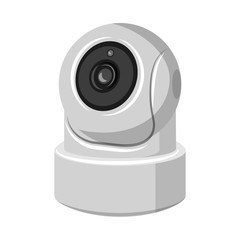 Vector design of cctv and camera logo. Collection of cctv and system stock vector illustration.