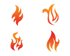 Fire flame Logo Template vector icon Oil, gas and energy logo
