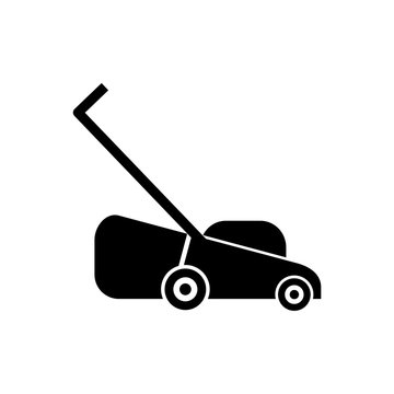 Lawn mower icon or logo, Grass cutter icon