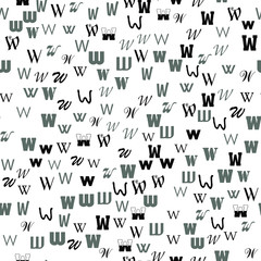 www network concept. Letters, alphabet, education, school concept. Seamless vector EPS 10 pattern