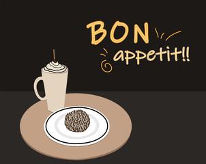 Bon appetit illustration