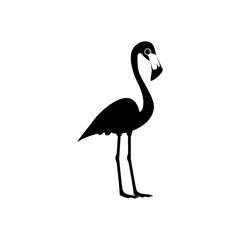 Flamingo icon or logo isolated on white background