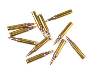 bullet on white background