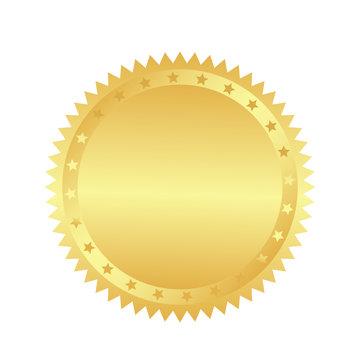 Golden retro sticker. sunburst design elements. The golden, brilliant ray of fireworks. Best for sale sticker, price tag, quality mark. flat vector illustration