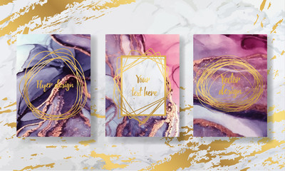 liquid marble with gold. flyer, business card, flyer, brochure, poster, for printing. trend vector