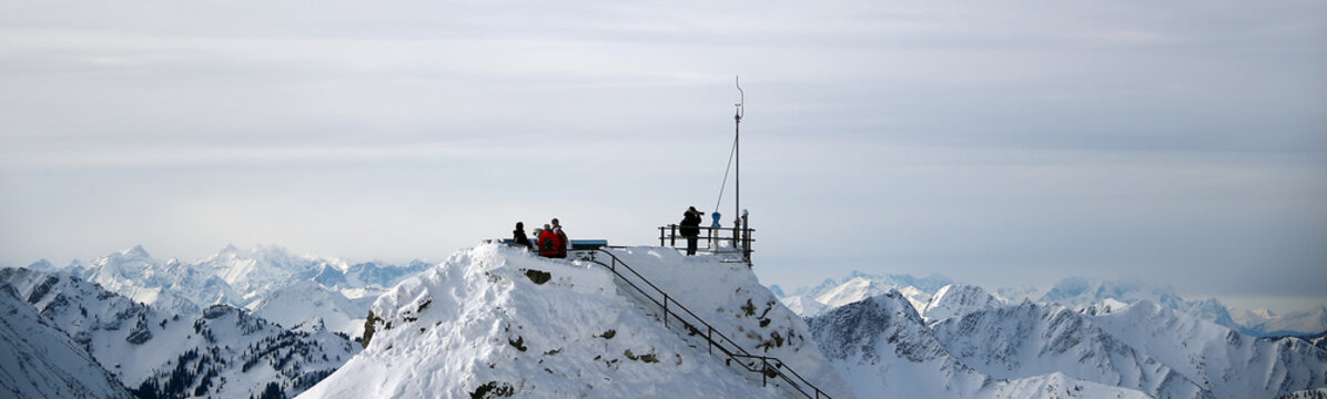 A general view from top of the 1838 metres (6030 feet) high Wendelstein mountain near Bayrischzell