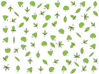 Wonderful background design with different types of leaves