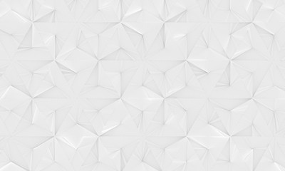 White Geometric Background (3d Illustration)