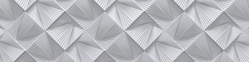 Creative Wide Silver Metal Design (Website head) (3d Illustration)