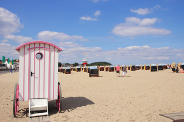 Beach of Travemuende, Baltic Sea - Germany
