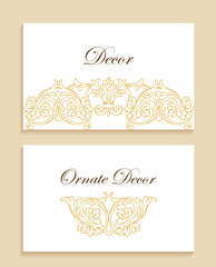 Vector ornamental decorative frame. Luxury floral border.