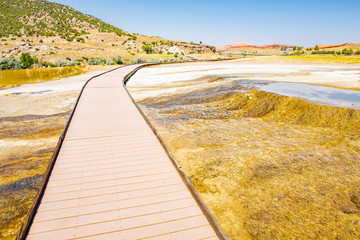 Thermopolis Hot Springs State Park in Wyoming, USA