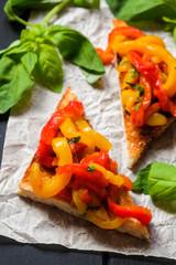 vegetarian bruschetta with paprika