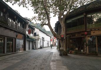 Fotobehang Beijing Qinghefang ancient street view in Hangzhou city Zhejiang province China