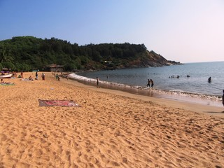 Der Om Beach, ein wunderbarer Strand in der Nähe von Gokarna / Karnataka in Südindien