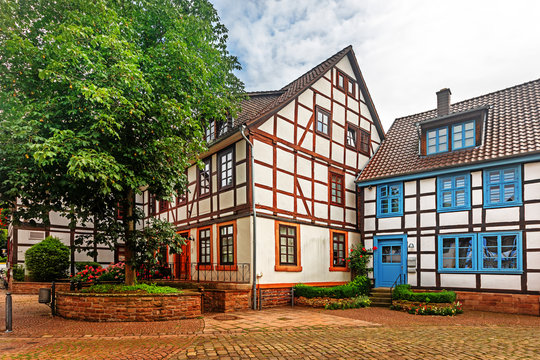 Historic half-timbered houses in Bodenwerder, Germany