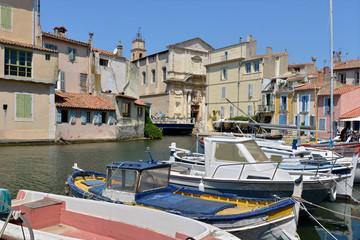 Fond de hotte en verre imprimé Port Port of Martigues in France, a commune northwest of Marseille