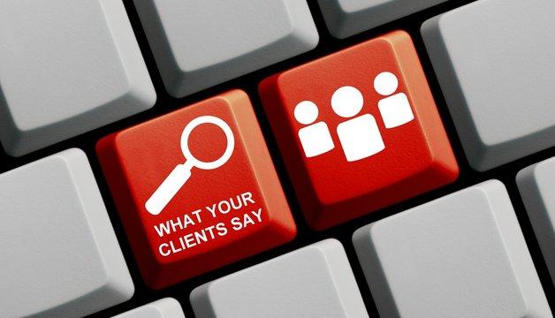 Kundenmeinungen suchen online