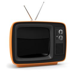 3D Illustration nastlagischer Fernseher