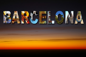 Barcelona collage sky