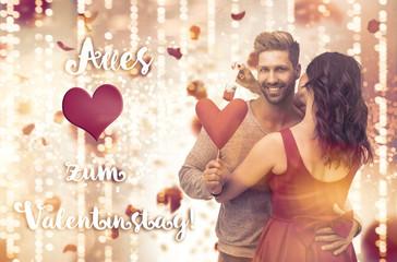Alles Liebe zum Valentinstag Karte