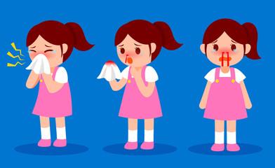 nosebleed little girl