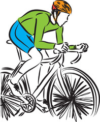 bike rider vector illustration