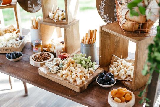 wedding snack table