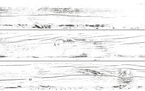 Distressed wooden planks overlay texture. Vector illustration. Wood grain background.