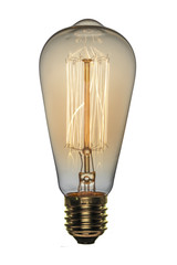 Retro light bulb, Edison style. Isolated object on a white background.