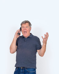 man using his mobile