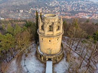 The Bismarck tower in Jena Thuringia