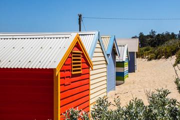 Cabanas coloridas em Melbourne