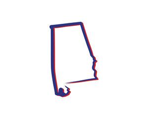 Alabama Outline Logo Icon 001