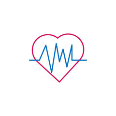Medical, cardiogram colored icon. Element of medicine illustration. Signs and symbols icon can be used for web, logo, mobile app, UI, UX