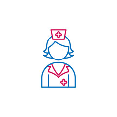 Medical, nurse, girl colored icon. Element of medicine illustration. Signs and symbols icon can be used for web, logo, mobile app, UI, UX