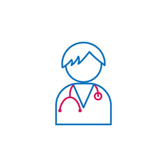 Medical, nurse, boy colored icon. Element of medicine illustration. Signs and symbols icon can be used for web, logo, mobile app, UI, UX