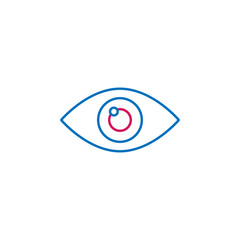 Medical, eye colored icon. Element of medicine illustration. Signs and symbols icon can be used for web, logo, mobile app, UI, UX