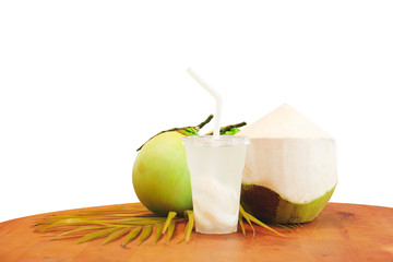 Coconut juice with isolated