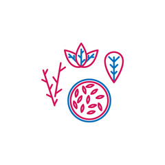 Medical, seed colored icon. Element of medicine illustration. Signs and symbols icon can be used for web, logo, mobile app, UI, UX