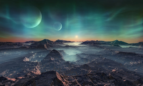 Deserted alien planet