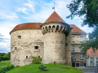 fort and gate at the city wall in Tallinn, Estonia