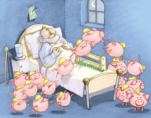 the dreams of the rich humor cartoon surreal illustration