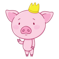 Cute piggy in crown.