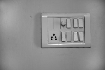 Light switch on the wall
