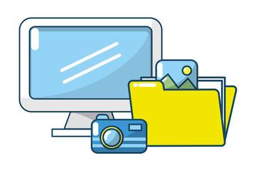 technology digital folders documents