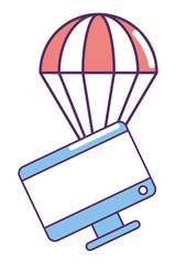 ecommerce online shopping cartoon