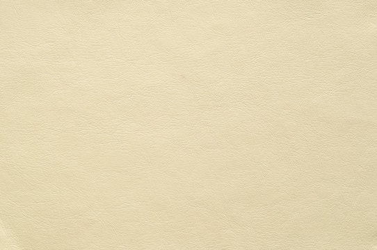 Color light ivory faux leather with a fine texture.